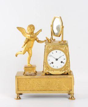 A French Empire ormolu sculptural mantel clock, circa 1810 by Unknown Artist