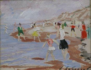 Sunny day on the beach of Scheveningen by Leonid Sologoub