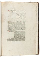 1472 incunabula of an encyclopaedia of the world, containing references to Arabia, Syria, Palestine,