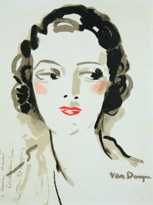Portait de Femme - Un diner aux chandelles par Van Dongen by Kees van Dongen