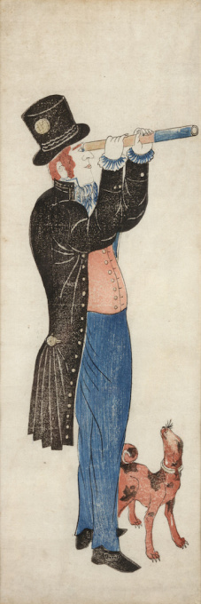 A JAPANESE COLOUR WOODBLOCK PRINT, NAGASAKI-É, DEPICTING A DUTCHMAN by Unknown Artist