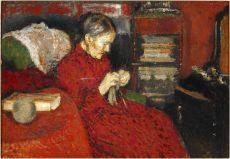 La tricoteuse by Georges Lemmen