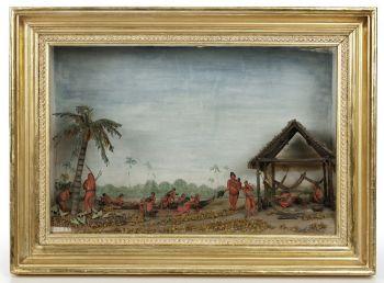 Caraïben Indians at the river side by Hendrik Samuel Schouten