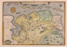 East Frisia  (Ostfriesland)  by  Abraham Ortelius