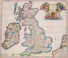 Brtitish Isles antique map  by  Danckerts