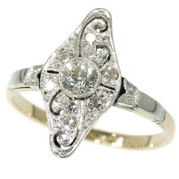 Art Deco diamond engagement ring by Unknown