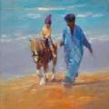 Paardje rijden by Dinie Boogaart