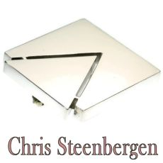 Artist Jewelry by Chris Steenbergen silver brooch by Chris Steenbergen