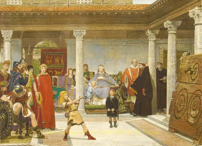 Education of the Children of Clothilde and Clovis by Lawrence Alma-Tadema