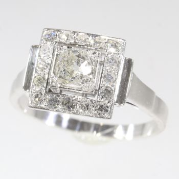 Vintage Fifties diamond Art Deco engagement ring by Unknown Artist