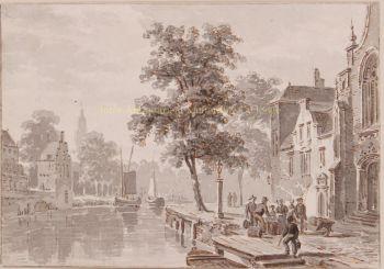Townscape  by  Bartholomeus Johannes van Hove