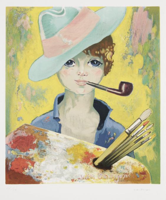 Jean Marie avec pipe by Kees van Dongen
