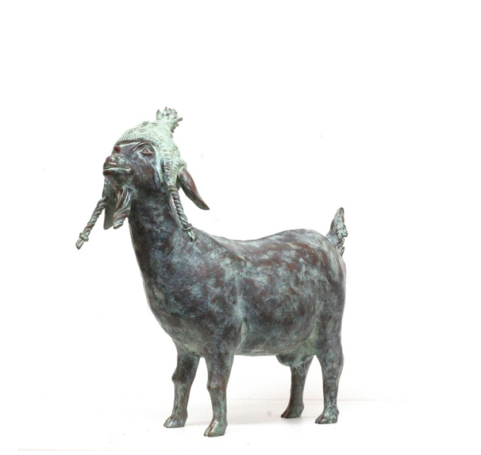 Goat Knitter by Annemarie van der Kolk