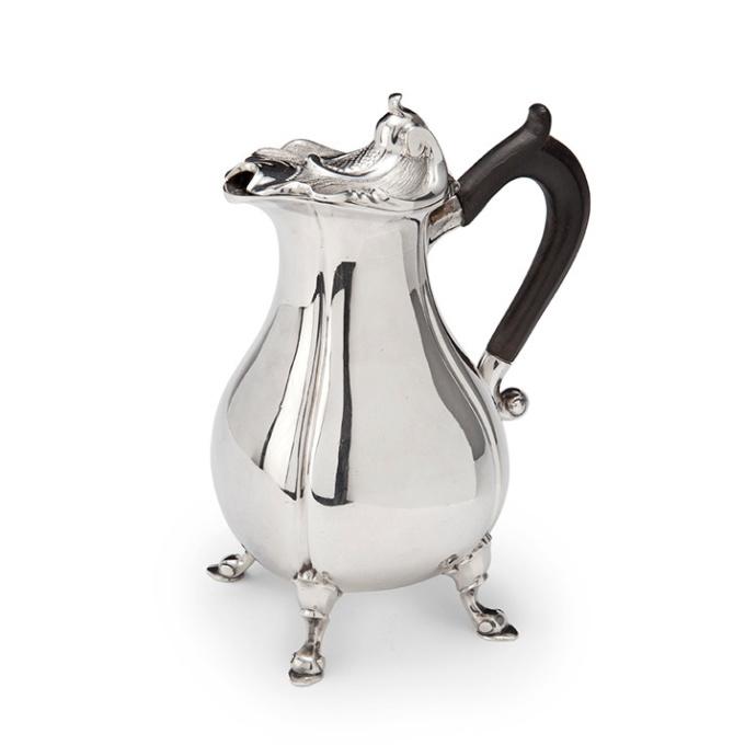 Dutch silver milk jug by Alger Mensma