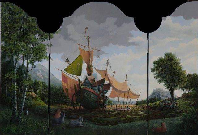 Circusboot by Con Van Velsen