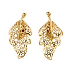Lalaounis leaf shaped earrings by Lalaounis