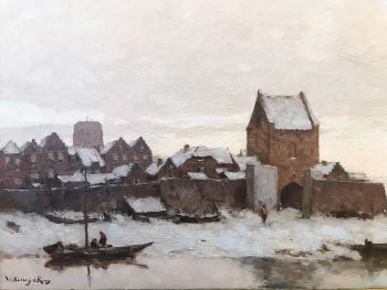 River view Woudrichem by Johannes Wetering de Rooij