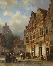 Koopmanstraat and Market in Brielle