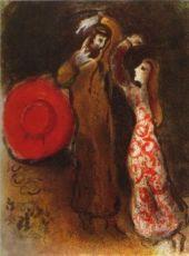Rencontre de Ruth et de Booz by Marc Chagall