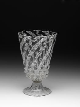 A rare filigrana a retortoli goblet by Unknown Artist