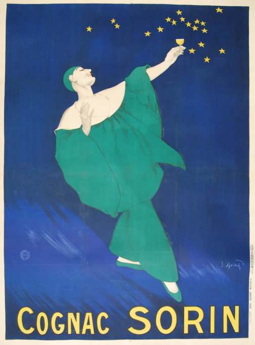 Art Deco Advertising poster - Cognac Sorin by J. Spring