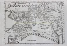 RARE MAP OF THE MIDDLE EAST   by Fries, Laurent