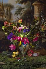 Still life with Butterfly by Hans Withoos