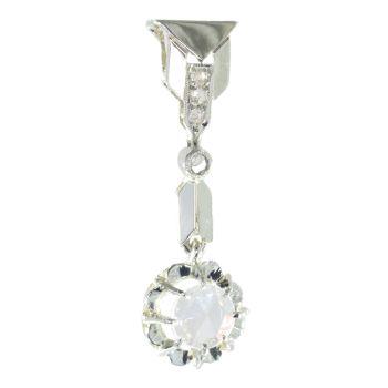 Vintage Art Deco large rose cut diamond pendant by Unknown Artist