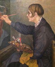 Charley Toorop in her Studio, by Jakob Nieweg