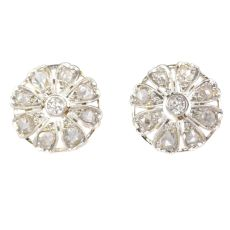 Belle Epoque / Art Deco diamond earstuds by Unknown Artist