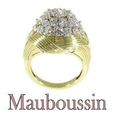 French Vintage Fifties diamond cluster ring by Mauboussin Paris by Mauboussin .