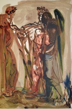 Divina commedia purgatorio 11 by Salvador Dali