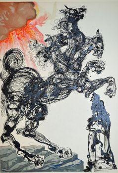 Divina commedia inferno 06 by Salvador Dali