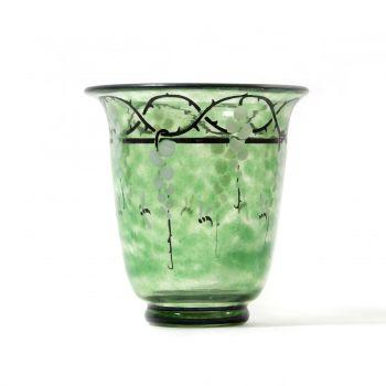 green vase by Marcel Goupy
