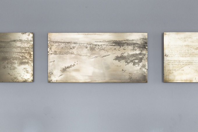 Close Range - etch on brass by Tanja Engelberts