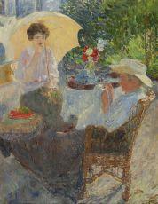 Teagarden by Ernest Jean Joseph Godfrinon