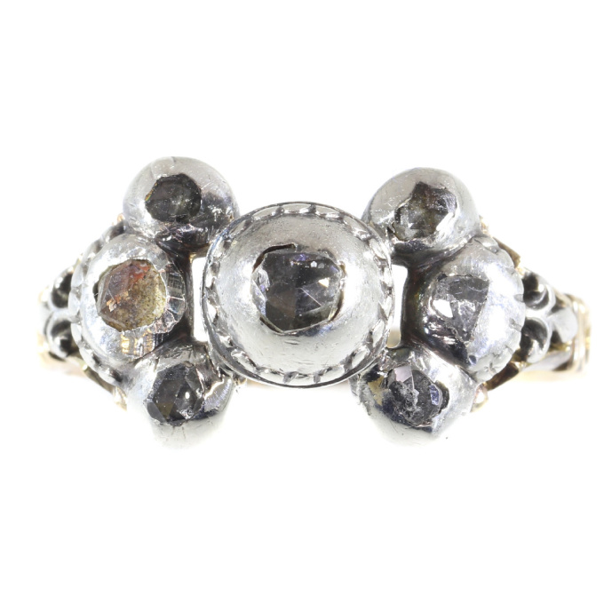 Antique Baroque/Rococo diamond ring by Unknown