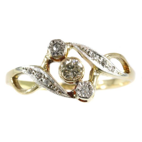 Vintage diamond Art Nouveau ring by Unknown Artist
