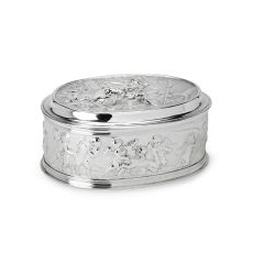 A Dutch silver box embossed with mythological scenery