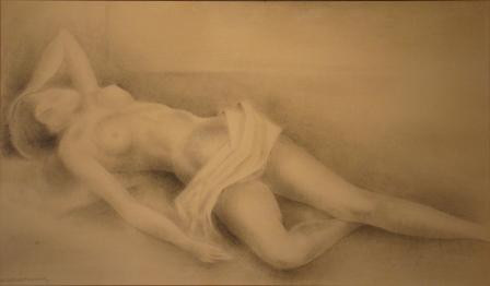 Reclining nude by Wim Schumacher