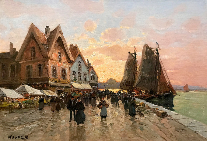 Harbor view by Charles Houben