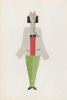 Costume pour Tristan Tzara by Sonia Delaunay
