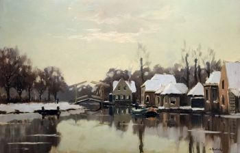 River view (Vecht) by Nicolaas Bastert