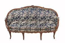 French Louis Quinze sofa with chinoiserie upholstery by Unknown Artist