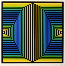 Polychrome progression by Jean-Pierre Vasarely (Yvaral)