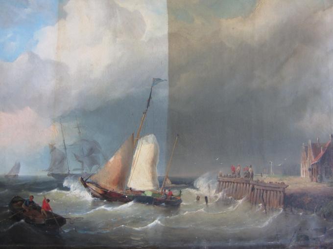 Seascape  by Cornelis Christiaan Dommelshuizen