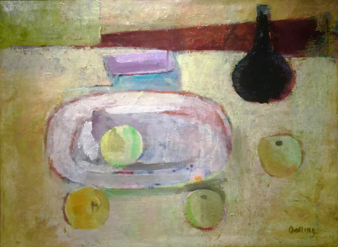 Still life with apples by Jeanne Oosting