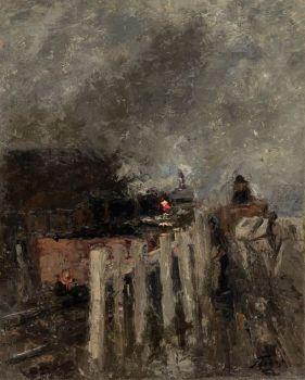 Trein emplacement by Jan Toorop