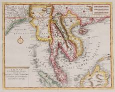South East Asia copper engraving by Giambattista Albrizzi