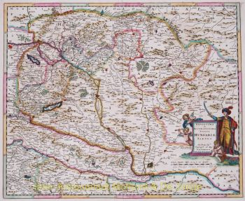 Hungary antique map  by  Danckerts